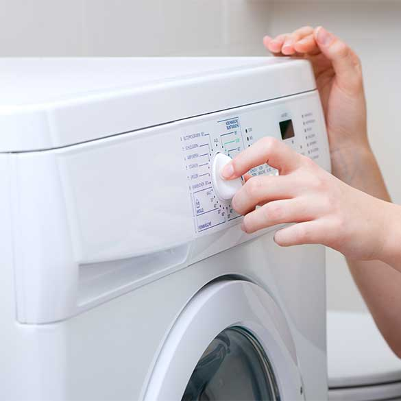washing machine for elastic interface pad