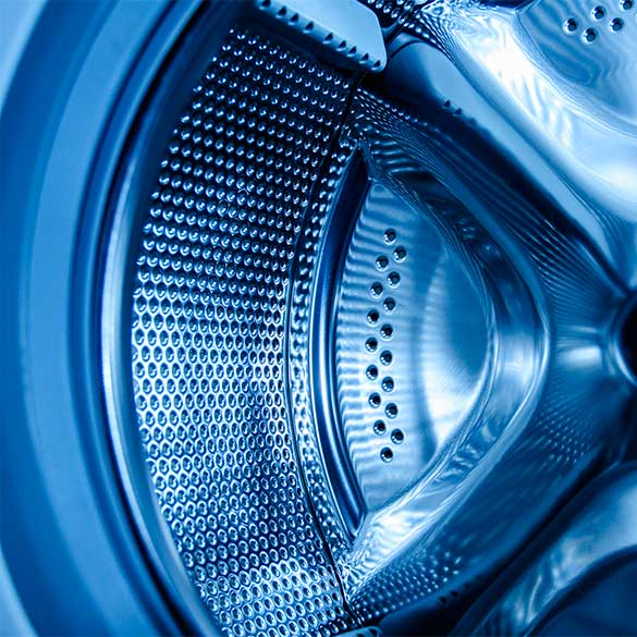 washing machine for elastic interface pad