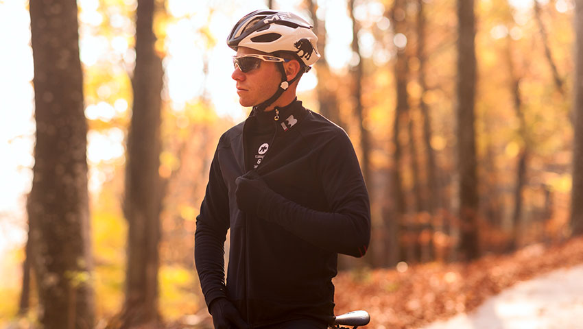 elasticinterface road biker with windproof jacket