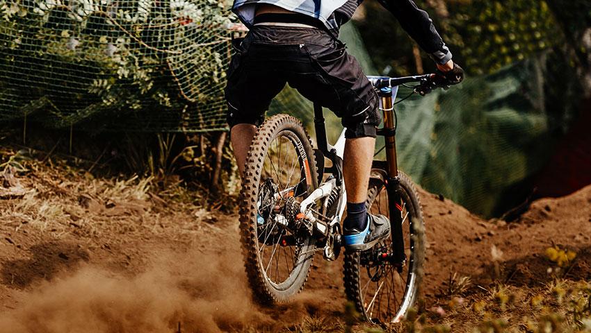 back man rider downhill elastic interface