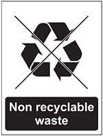 no recyclable waste icon