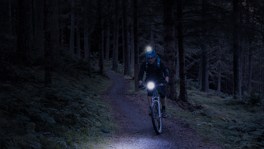 night riding bike elastic interface lights